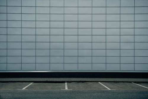 wall lines road parking gray