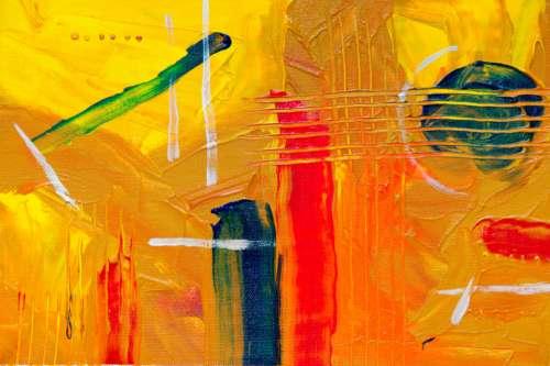 orange abstract art painting bold