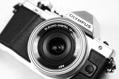 olympus black & white camera vintage retro
