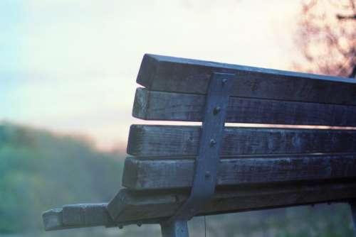 wood bench park
