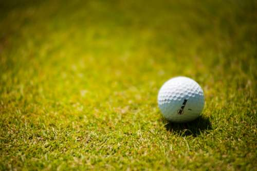 golf ball course grass green