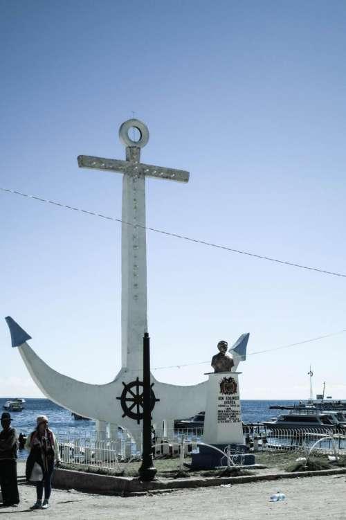 anchor Copacabana Bolivia statue landmark