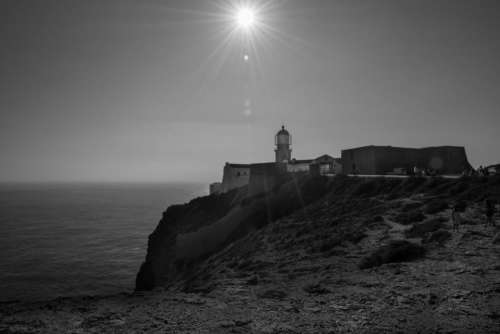 Cape Saint Vincent lighthouse coast ocean sea