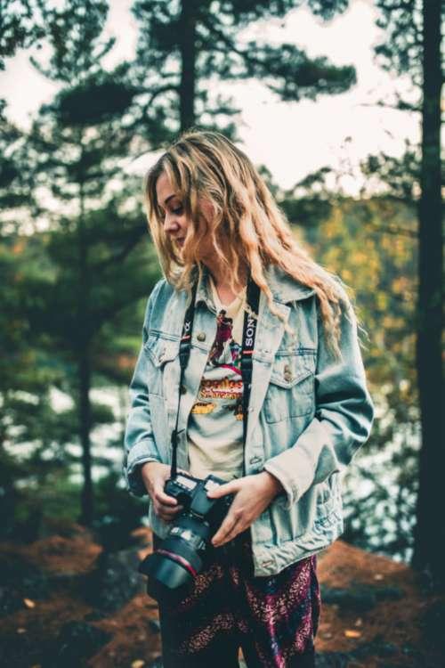girl blonde photographer photography photo