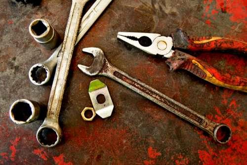 colour rust rust steel tools machine