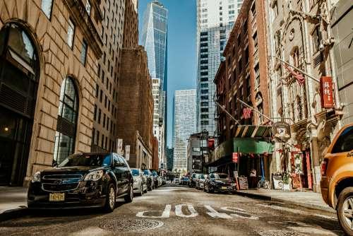 city architecture new york usa street