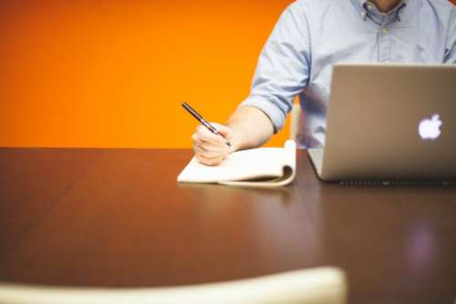 business working office desk laptop