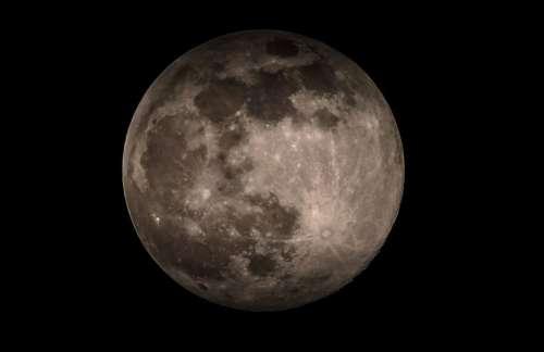 dark moon space round