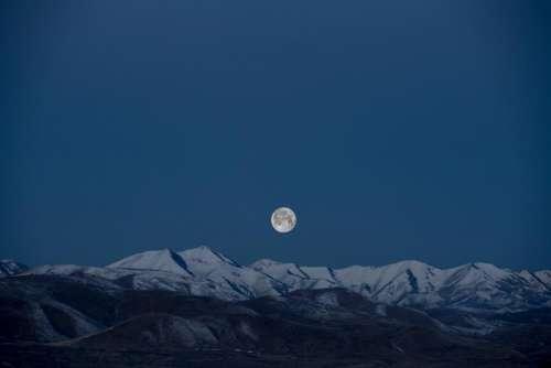 nature mountain landscape snow night