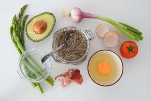 food ingredient avocado egg onion