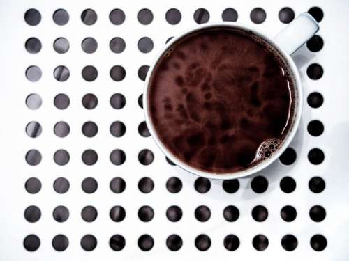 coffee cup mug circles drink