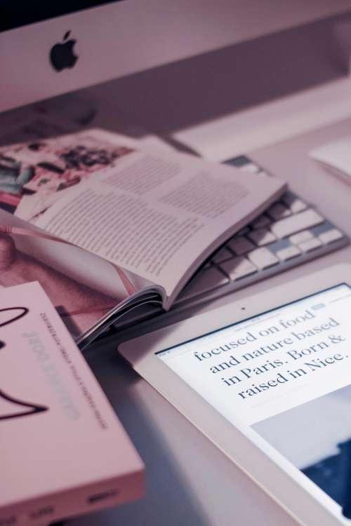 books magazines reading tablet ipad