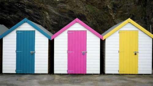 houses miniature tiny colors wood