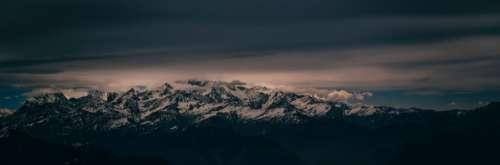 snowy mountain widescren wallaper hd