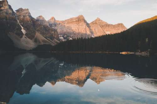 lake water reflection nature mountain
