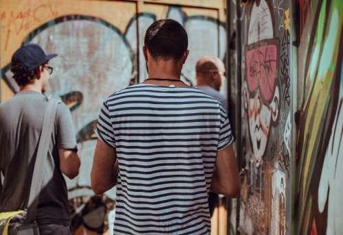 people back men guys walking