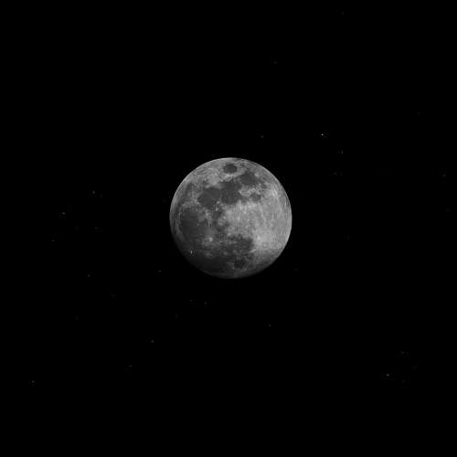 detailed moon black & white space sky