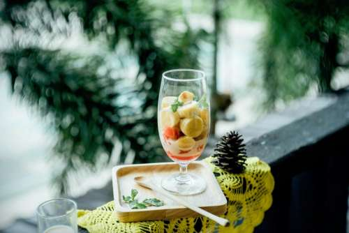 lifestyle glass food dessert fruits