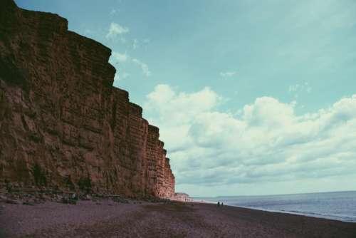 nature landscape cliff rocks sand