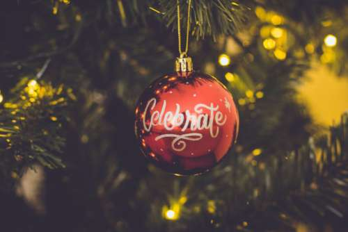 celebrate bokeh christmas bauble christmas balls