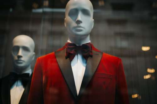 black red suit tie clothing