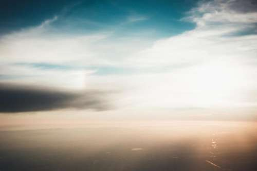 sky clouds aerial view ocean