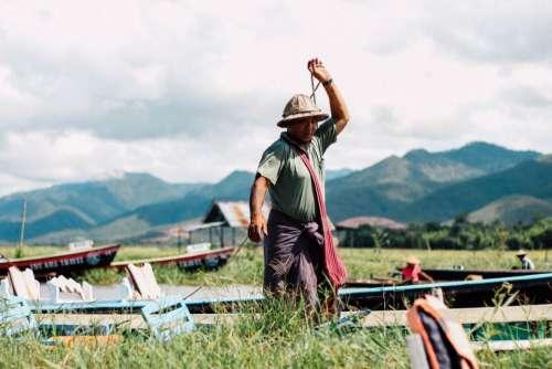 people man farming grass mountain