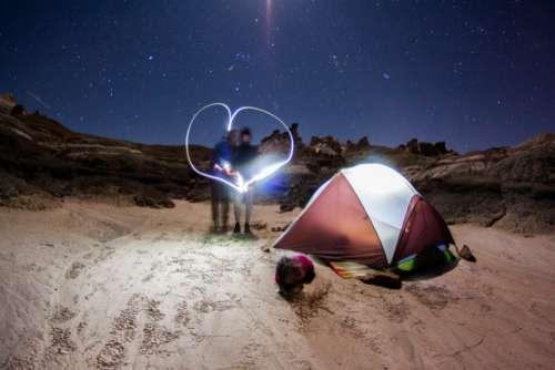 light love camping tent man