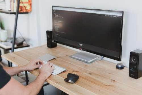 computer desk work business office
