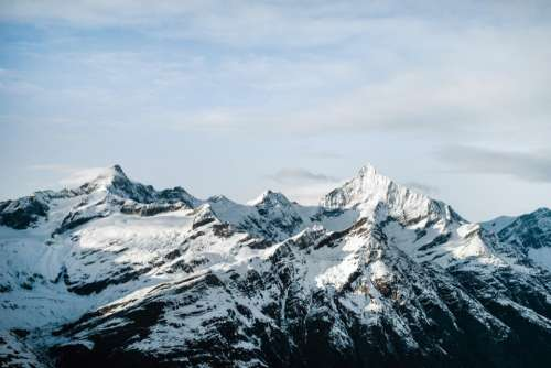 mountain highland valley snow winter