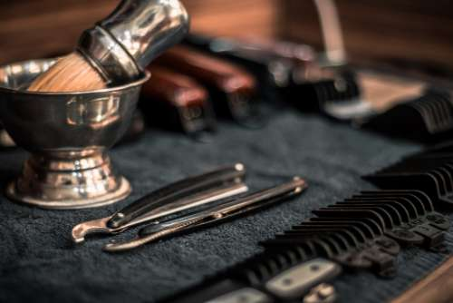 barbershop brush razor barber shop
