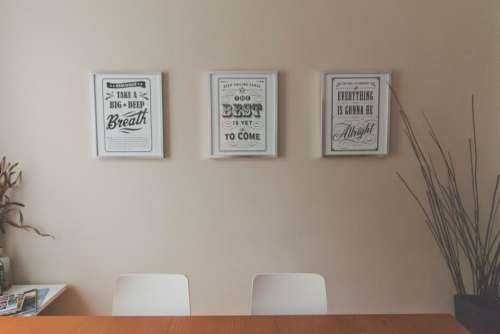 office desk table quotes prints
