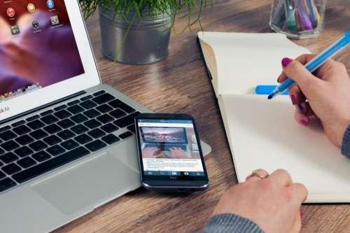 notebook notepad writing marker highlighter