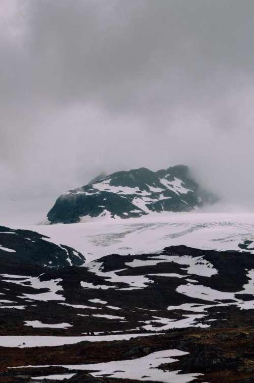 mountain highland landscape nature snow