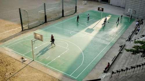 hobbies sports basketball court players
