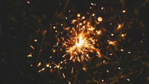 fire flames sparkler sparks light