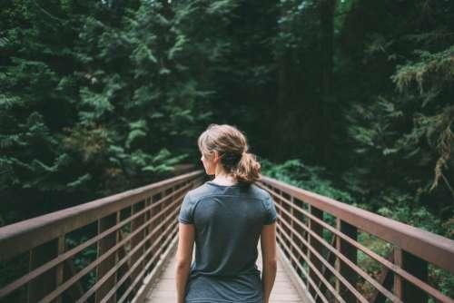 girl woman hiking trekking outdoors