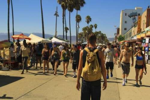 people man woman summer travel