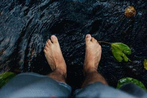 feet water river stream nature