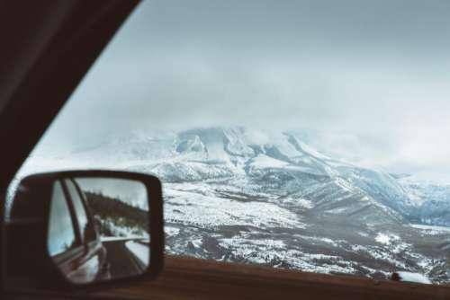 mountain landscape peak summit snow