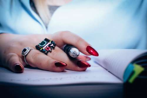 notebook pen people girl hand