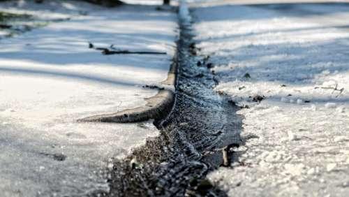 snow river street ice winter