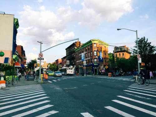 intersection crosswalk city urban road