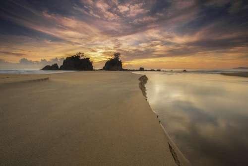 ocean sea sand nature waves