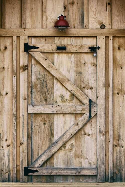 wood wooden door bell