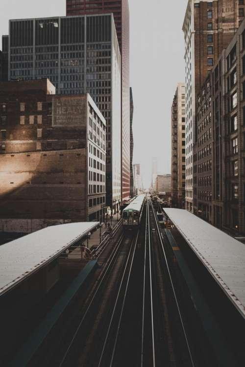 train station rail trail urban
