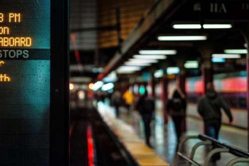 station subway train rail shed