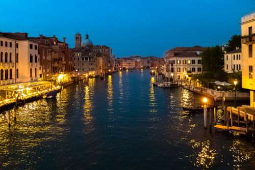 venice italy lights canal amazing