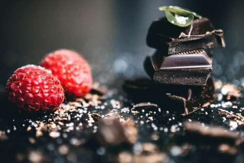 dark chocolate raspberry sprinkle tasty