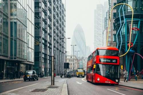 red bus london double-decker uk